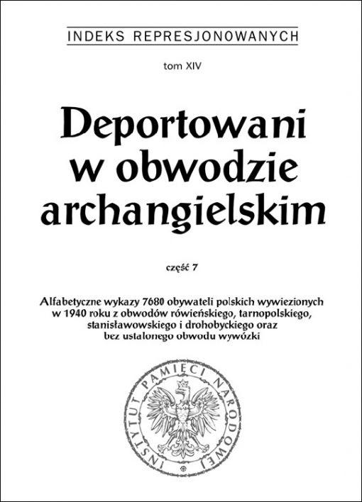 Deportowani w obwodzie archangielskim 7 - okładka książki