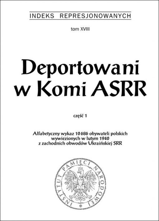 Deportowani w Komi ASRR - okładka książki