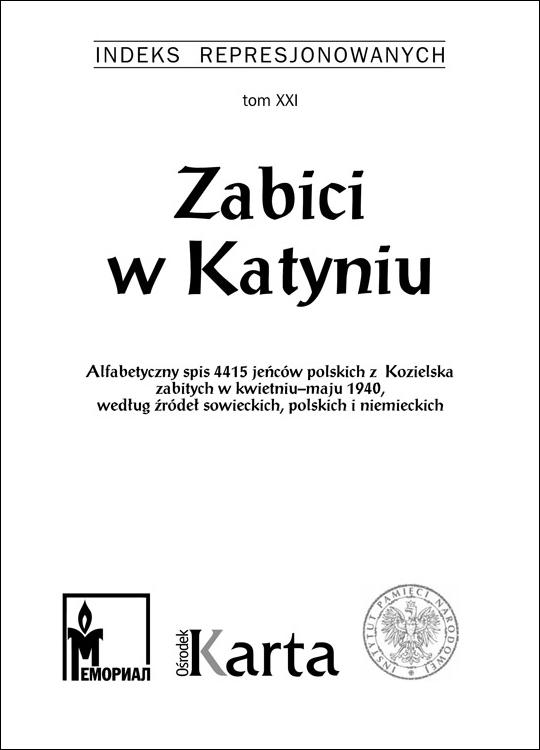 Zabici w Katyniu