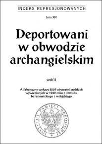 Deportowani w obwodzie archangielskim cz. 2 - okładka książki