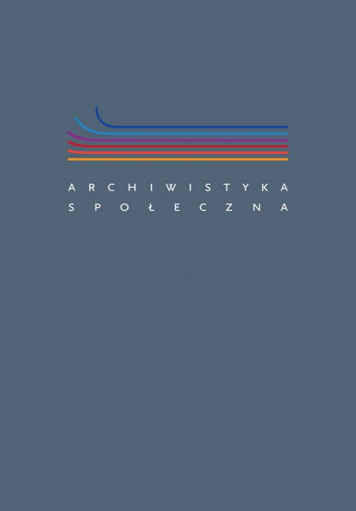 Archiwistyka społeczna Poradnik - okładka książki