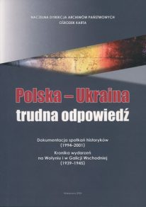 Polska Ukraina trudna odpowiedź - okładka książki