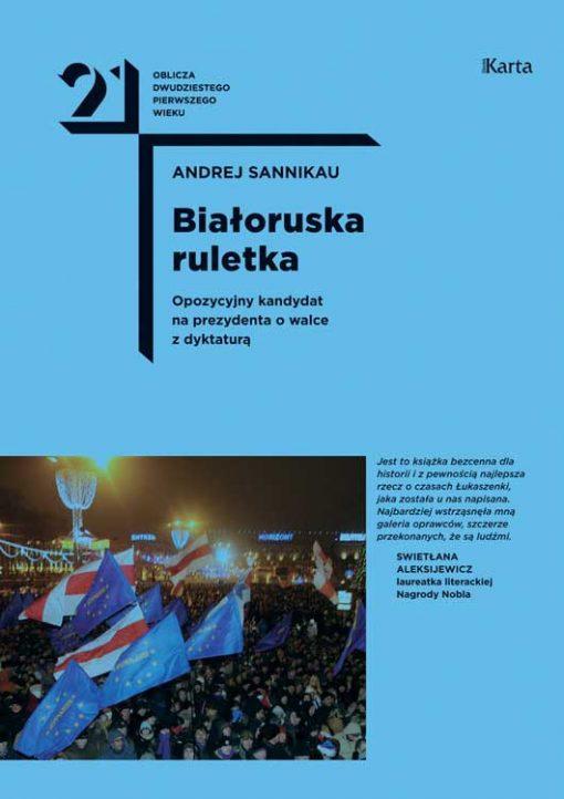 "Okładka książki ""Białoruska ruletka"" Sannikau"