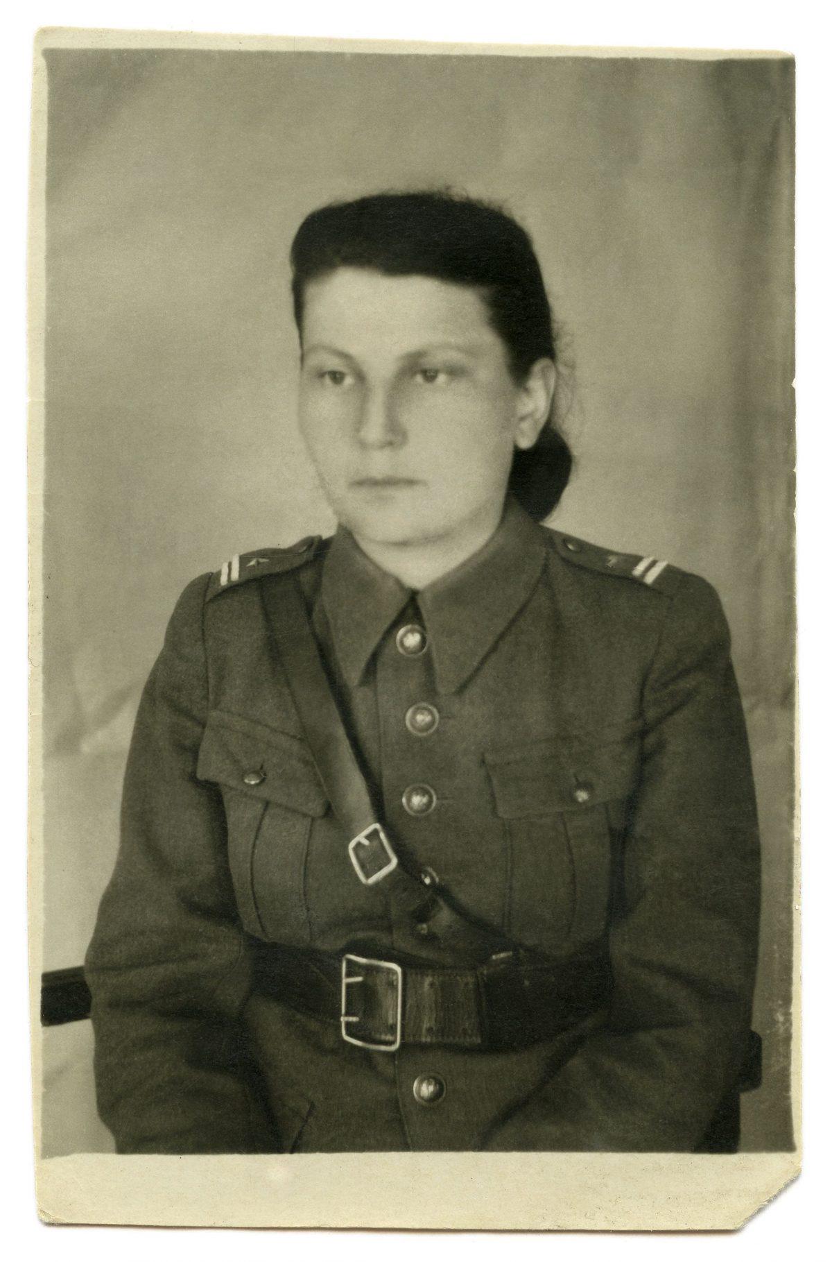 1945. Stanisława Sowińska. Fot. ze zbiorów Elżbiety Horodyskiej