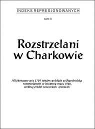 Rozstrzelani w Charkowie - okładka książki