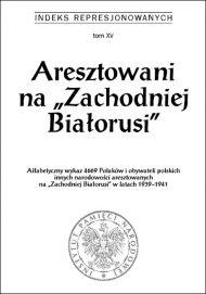 Aresztowani na Zachodniej Białorusi - okładka książki
