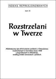 Rozstrzelani w Twerze - okładka książki