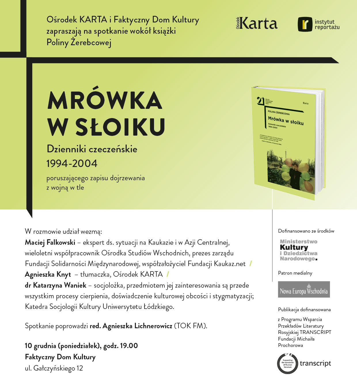 Premierowe spotkanie zksiążką Poliny Żerebcowej