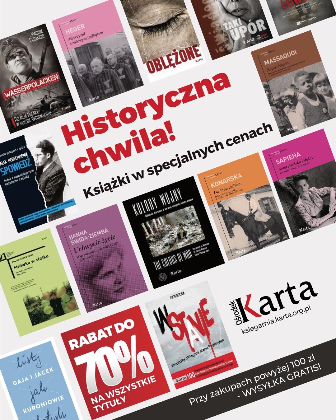 Uwaga! Nadeszła historyczna chwila!   Wszystkie nasze książki do70% taniej!