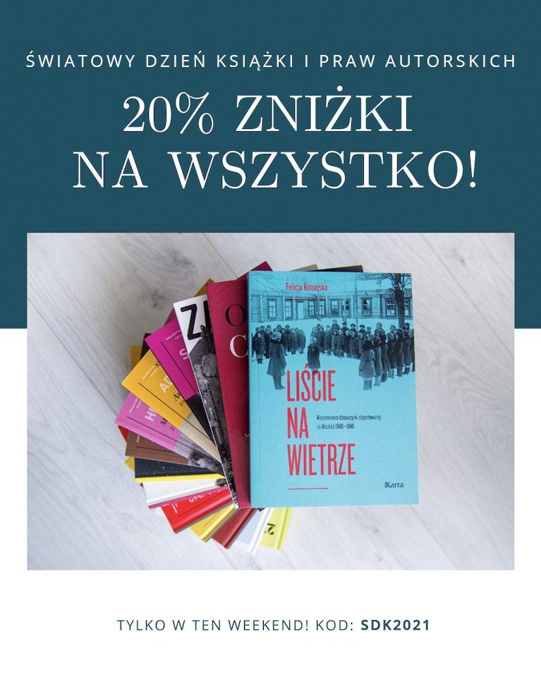 20% zniżki zokazji Światowego Dnia Książki iPraw Autorskich!